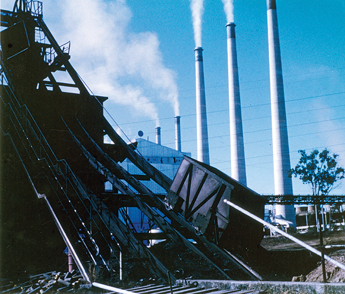 Remains-of-winding-apparatus-at-Box-Flat-mine-1---day-after-explosion-Ipswich-1972