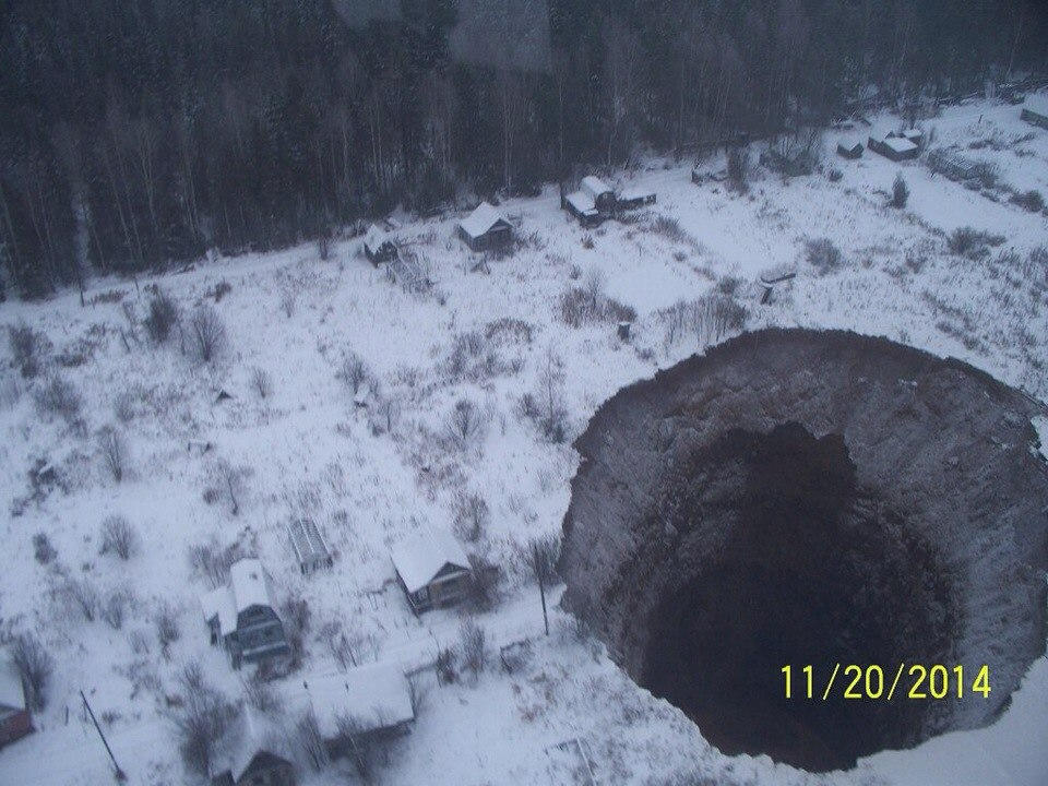 Massive Sinkhole in Russia Linked to Flood at Potash Mine