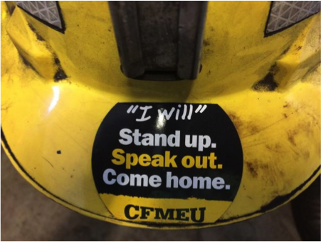 Safety campaign stickers banned from miners helmets