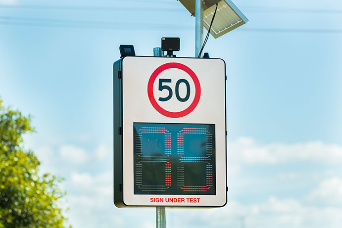 Optimise Road & Intersection Safety with Vehicle Activated Warning Signage