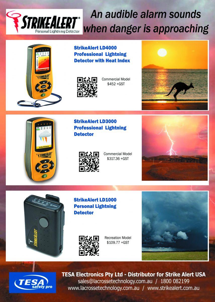 Strike Alert Field Portable Lightning Detector