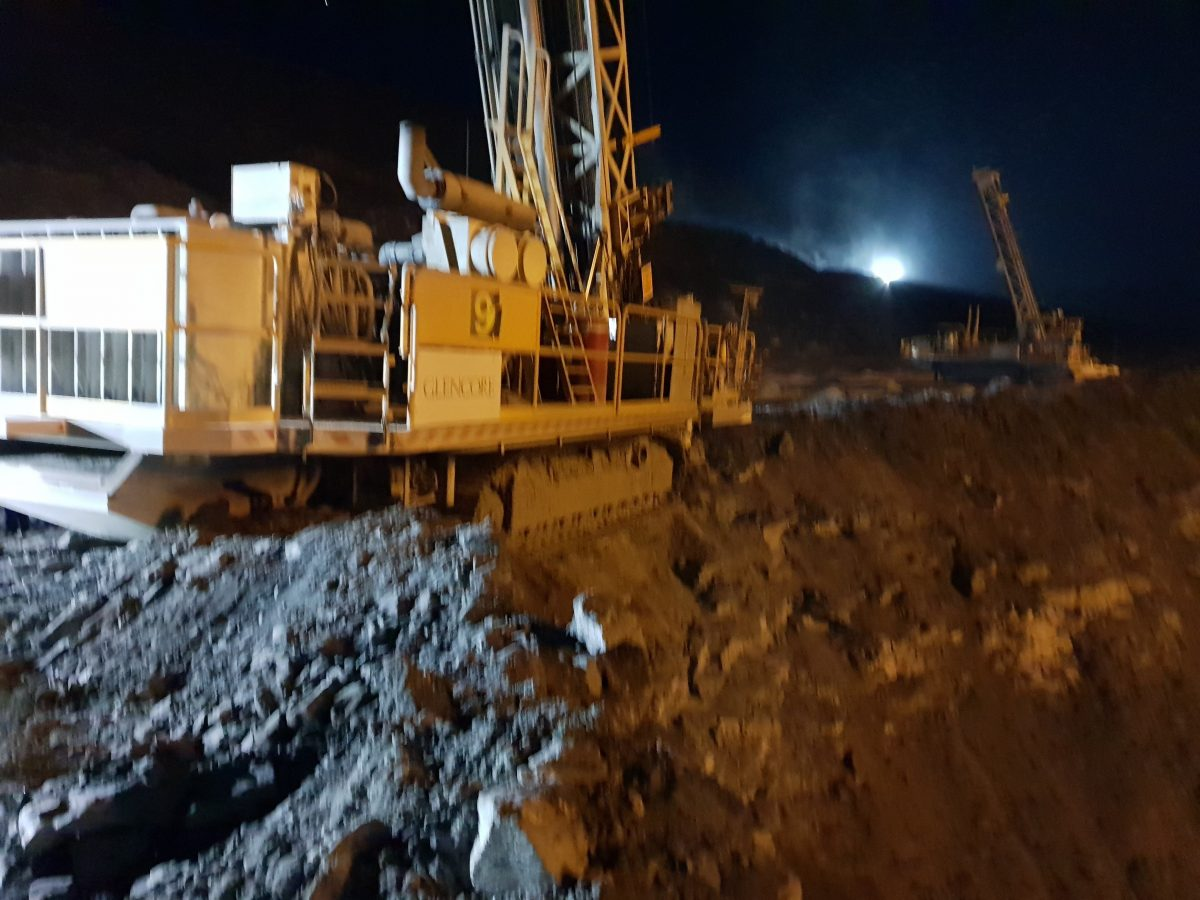 Dangerous incident: drill rig