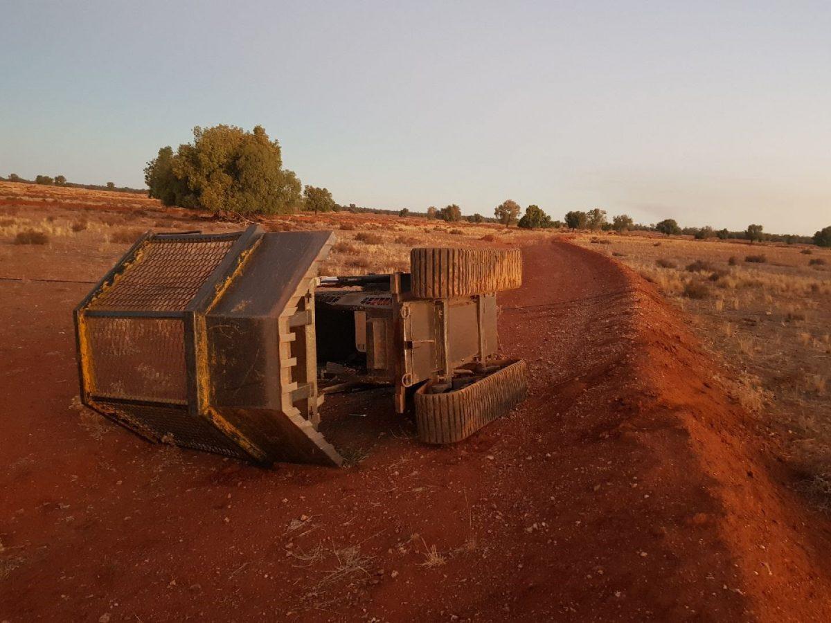 Dangerous incident: loader rolled