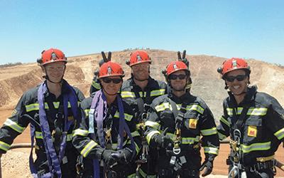 mines rescue team camaraderie