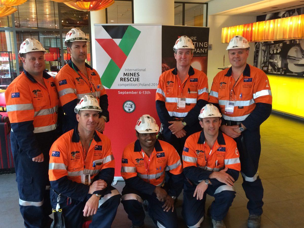 Kestrel Mine's Rescue Team Takes 3rd Place Internationally