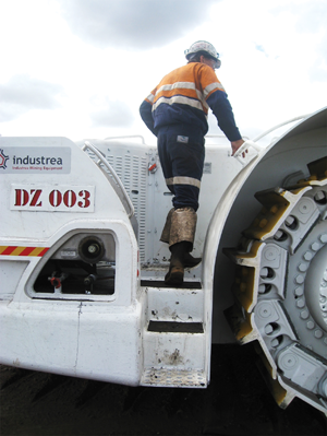 Slips trips and falls during mining equipment access can be prevented with ergonomic design