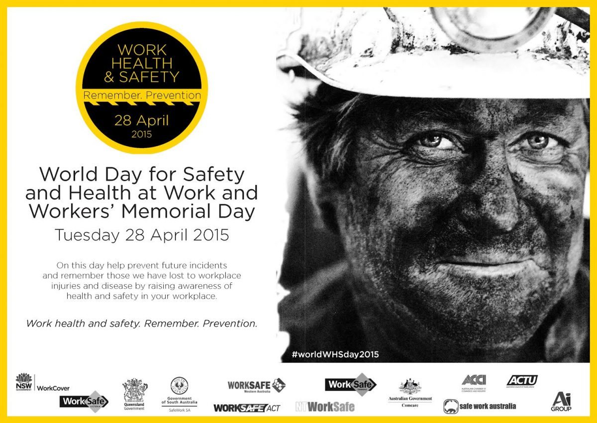 Focus on workplace safety for Workers' Memorial Day