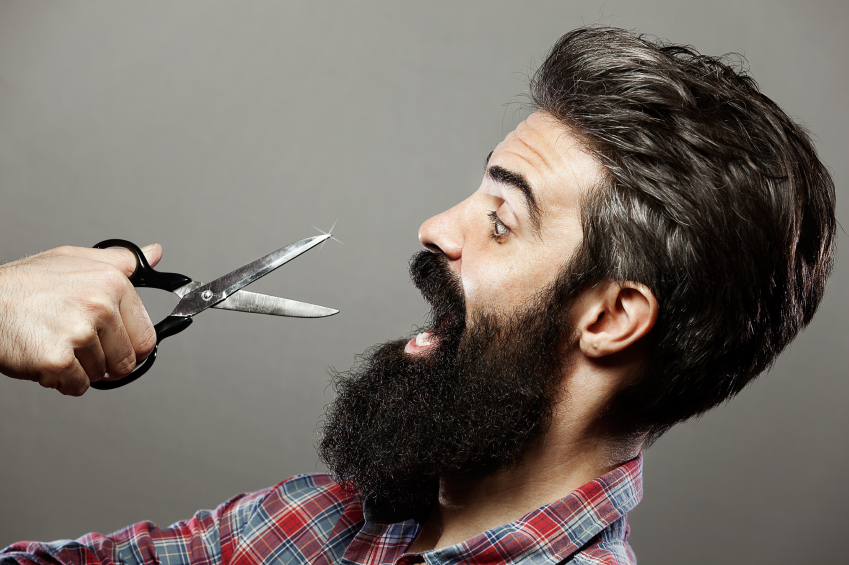 beard at work battle for a man who was dismissed in a prickly situation
