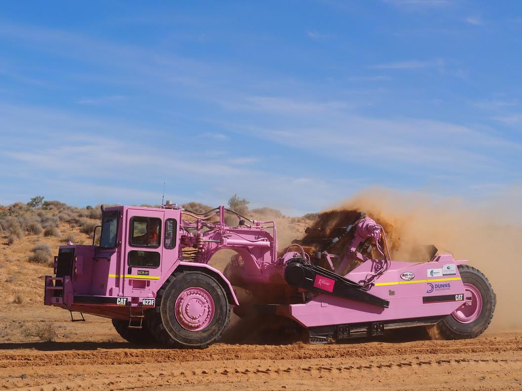 Earthmoving company pretty in pink for charity