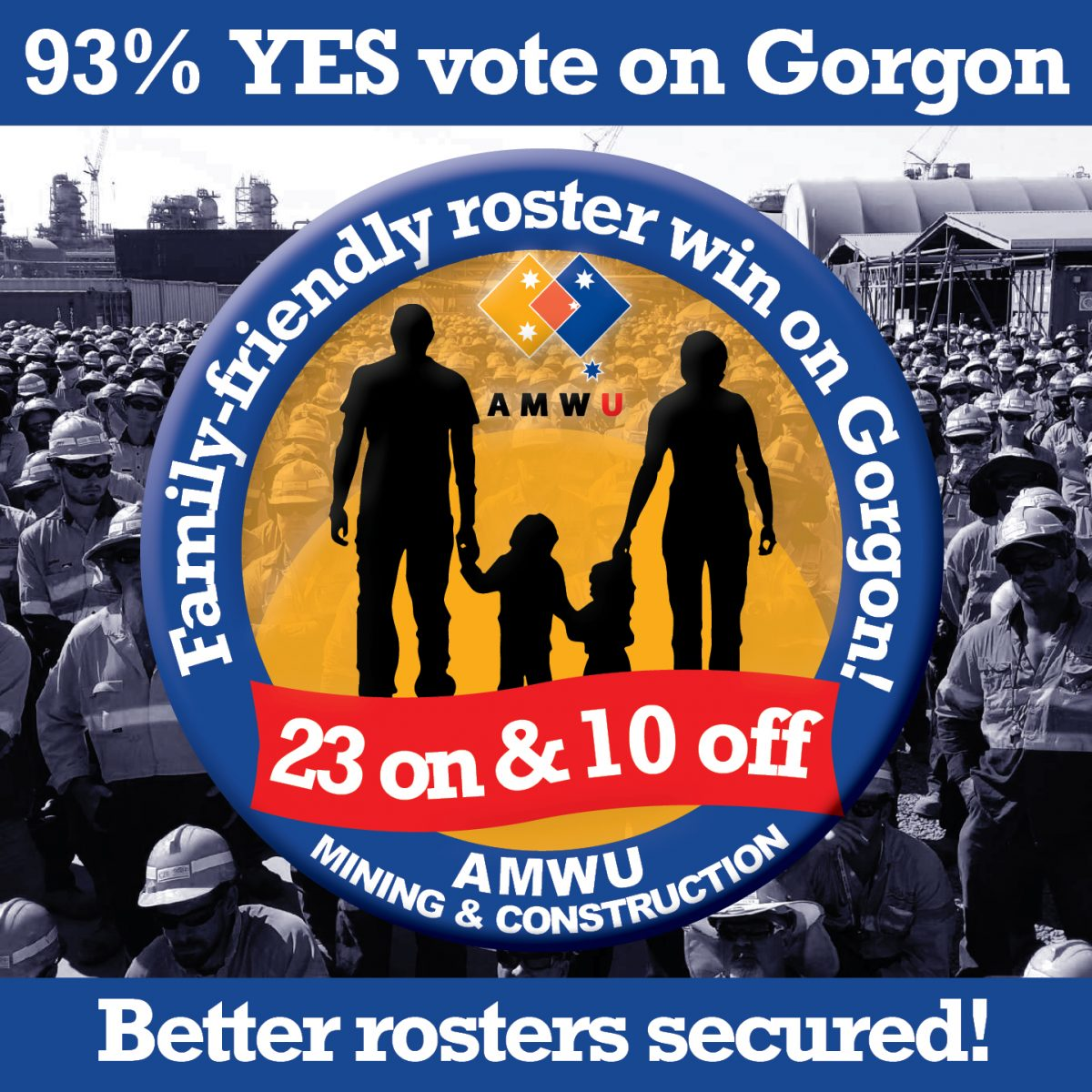 Family friendly roster win for Gorgon employees