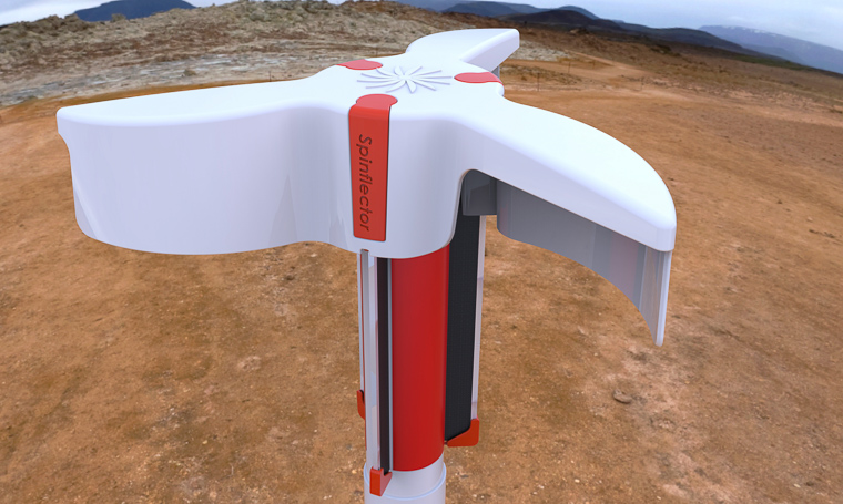 Wind-powered device improving safety on site