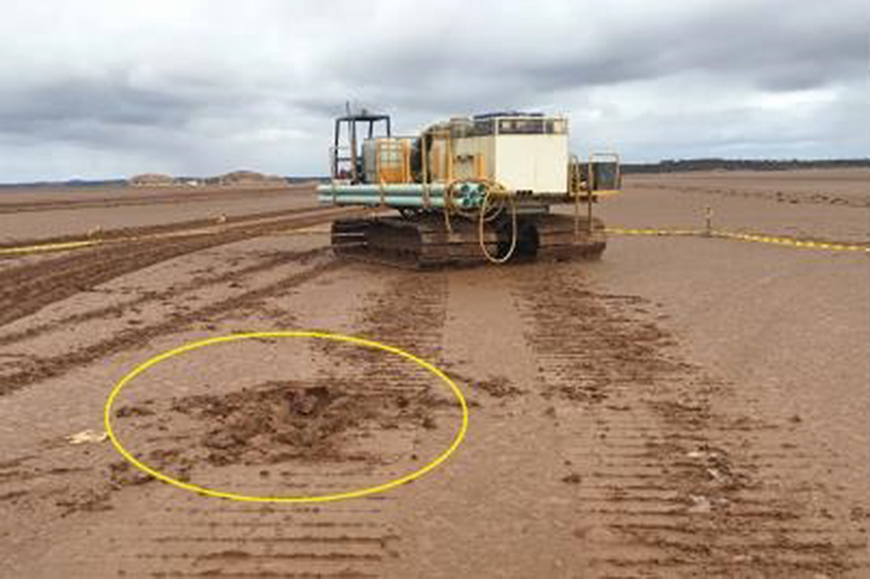 Drill offsider run over by tracked vehicle