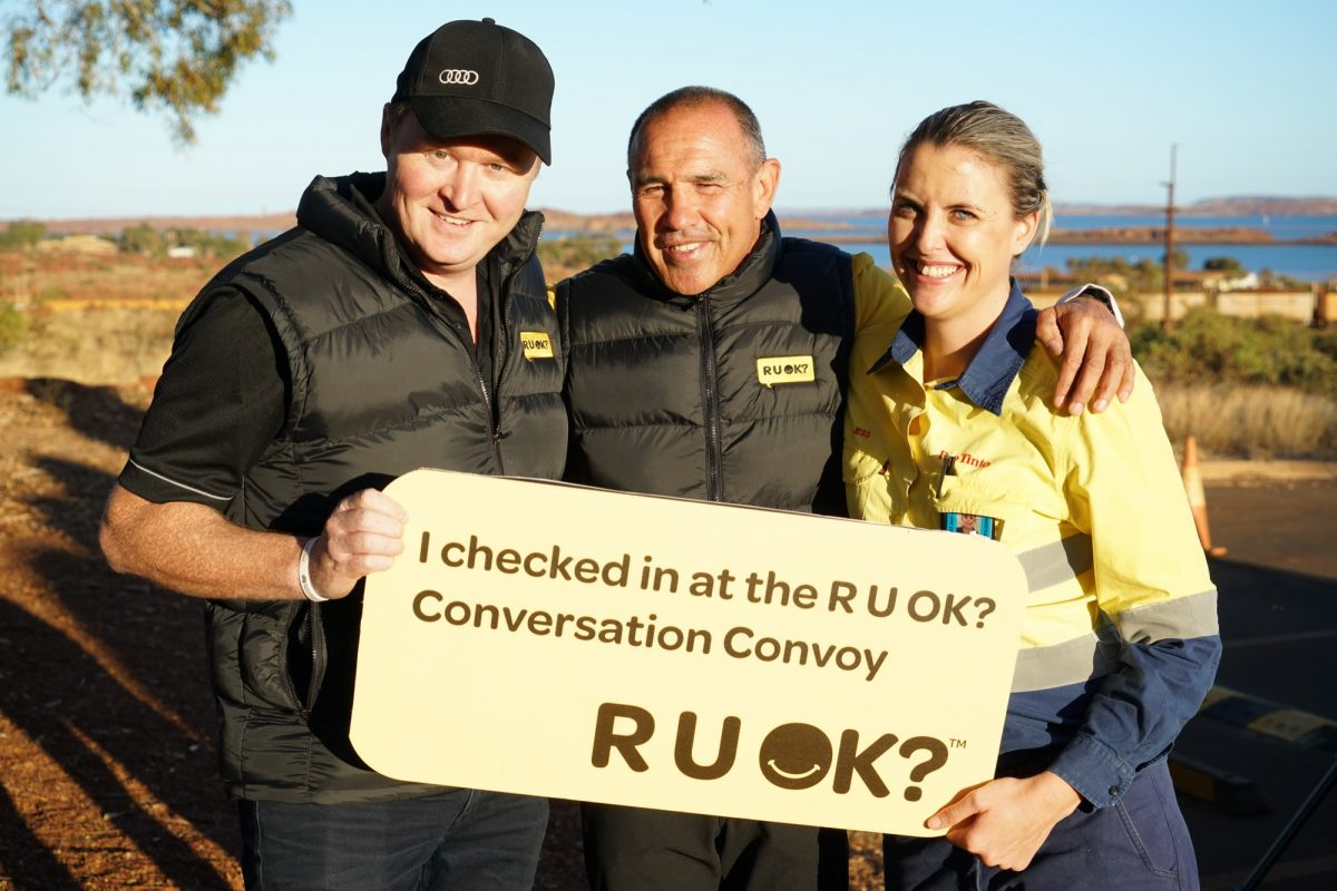 R U OK? visit Rio Tinto at Wickham and Dampier