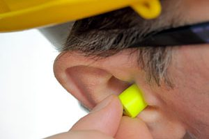 noise induced hearing loss worker earplugs