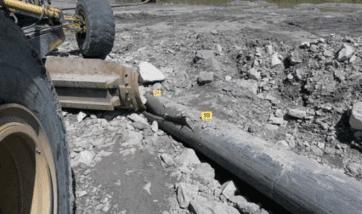 Broken water pipe