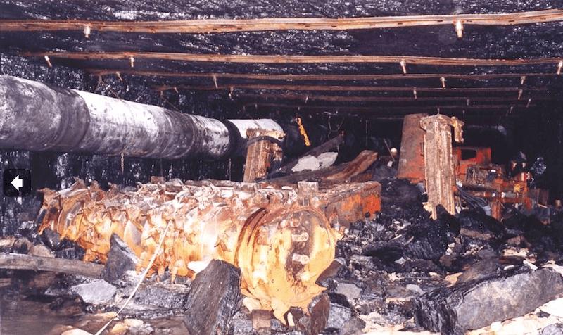 Gretley mine disaster incident scene