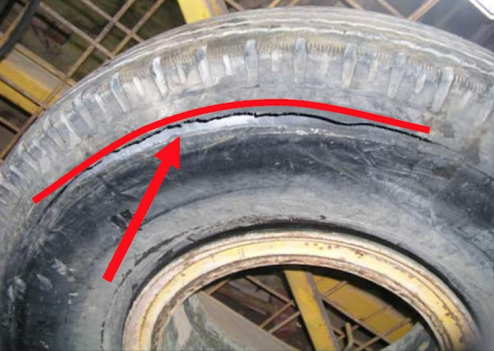 tyre zipper failure