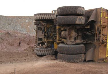 water cart rollover at Mt Arthur mine
