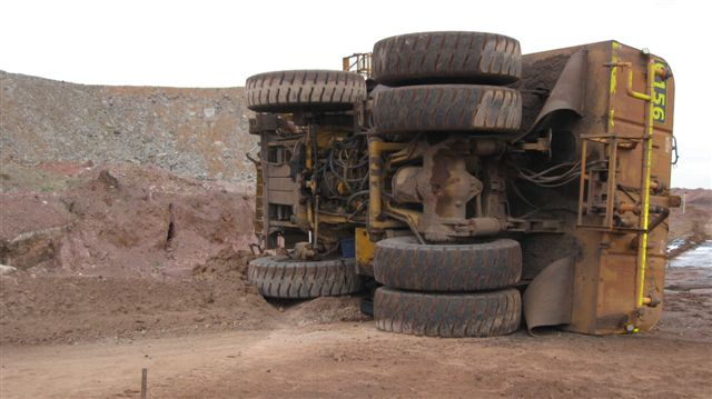 water cart rollover at Mt Arthur mine