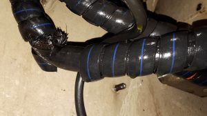 haul truck brake hose results in fire
