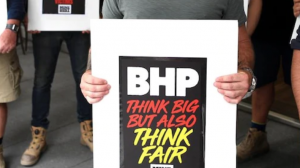 dust disease victims group protest outside BHP