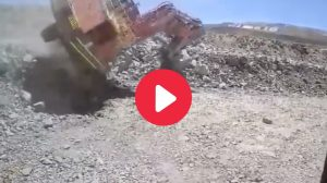 excavator fall from bench WA Lithium mine