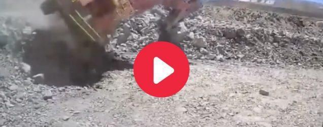 excavator fall from bench WA Lithium mine