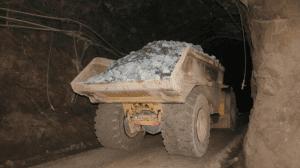 underground haul truck fire