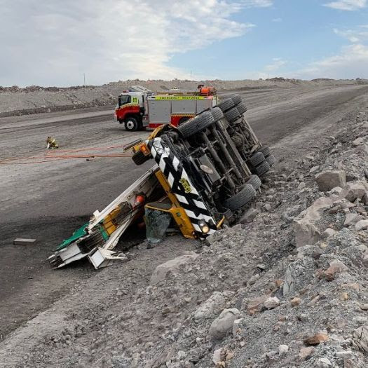 dangerous incident when crane rolls on ramp at nsw coal mine