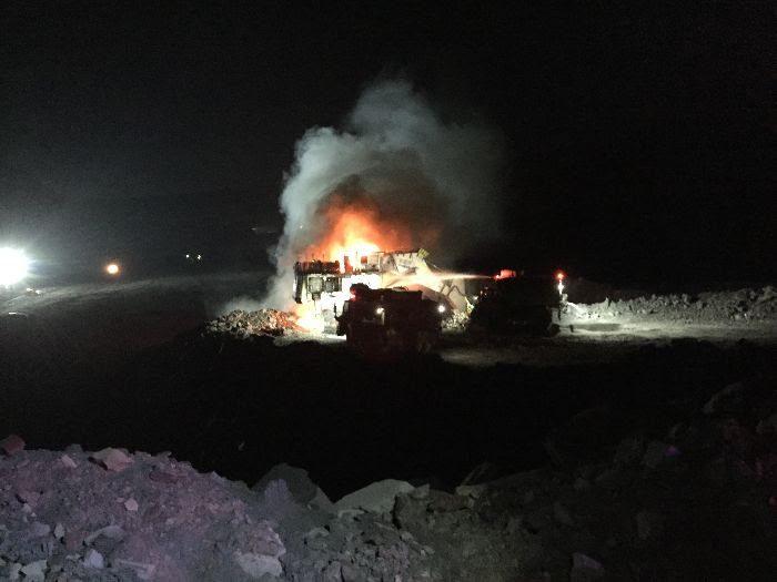 excavtor fire at thiess mount arthur mine