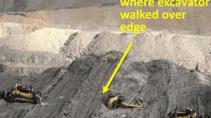 excavator rollover in dozer push