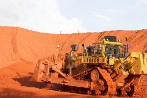 Australian mining D11 working at Weipa in the Australian Mining Industry