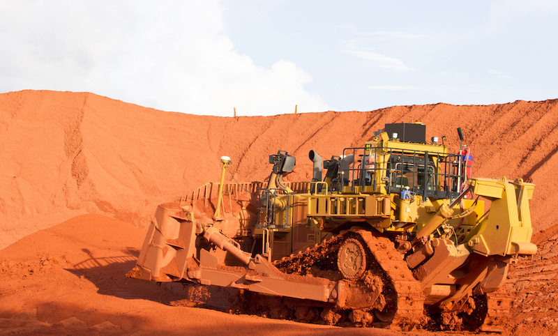 Australian mining D11 working at Weipa in the Australian Mining Industry