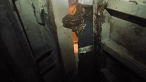 trapped in ventilation control door
