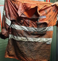 workers shirt high pressure fluid