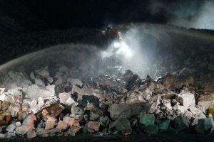 dozer fire nsw mine