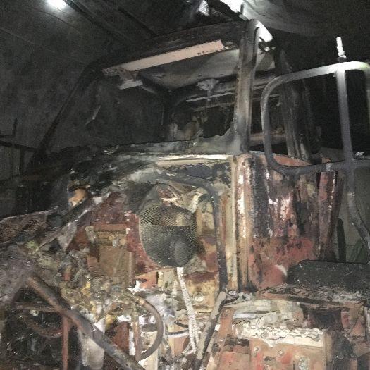 mining truck fire underground