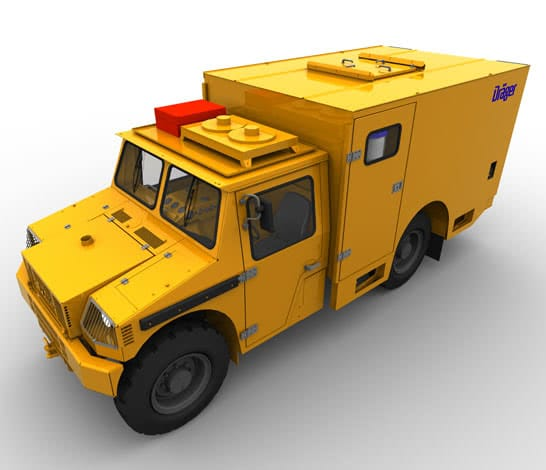 The Draeger Mines Rescue Vehicle