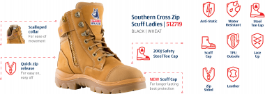 new ladies work boot from steel blue