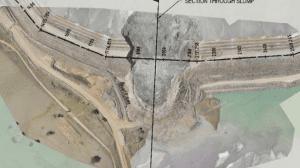 cadia tailing dam failure aerial image