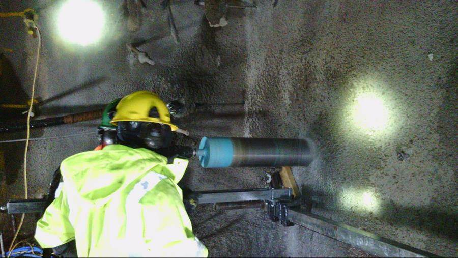 Pike river mine re-entry drilling into mine seal