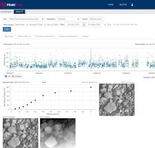 Measurement results of processed images help mine measure drill and blast performance