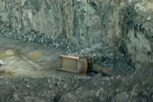 truck rolls from bench in quarry highlighting quarry safety concerns