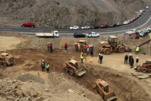 Rescue scene as mines rescue search for missing miner