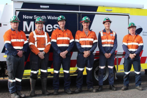 Newcastle mines rescue competition winners Team Orange