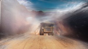 dust from mining truck