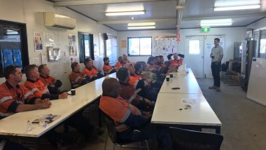 debriefing employees following the Middlemount Mine tragedy