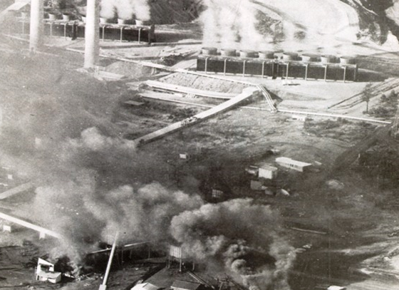 Box Flat mine disaster - Aerial image