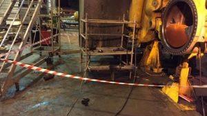 Boilermaker near miss
