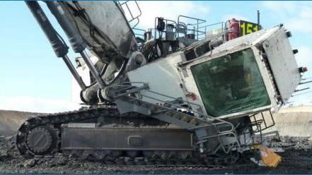 excavator cab dislodgement